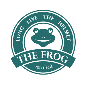 Soporte-para-casco-de-moto-The-Frog-Logo