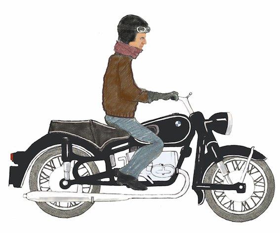 soporte-casco-moto-bmw-the-frog-dibujo-motorista